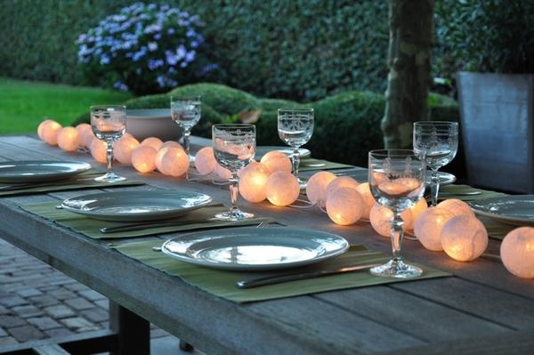 dekoracja stołu girlandy świetlne cable & cotton