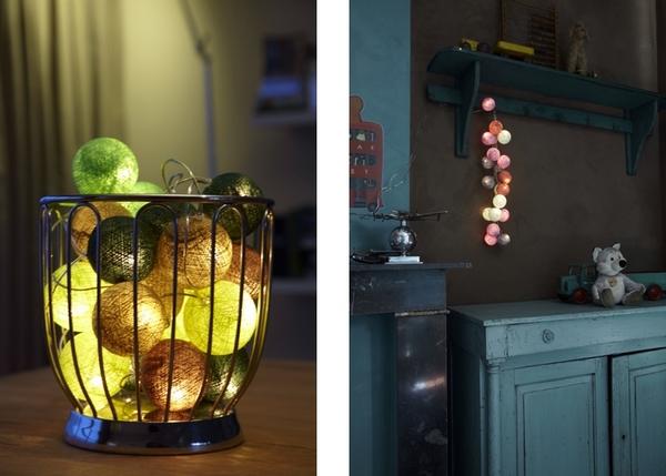 oświetlenie dekoracyjne cable& cotton kule świetlne