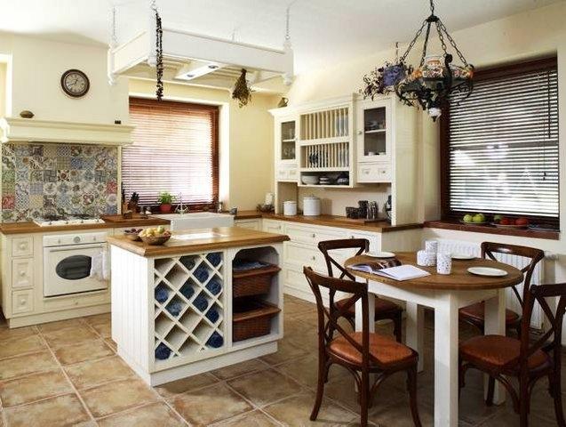 Kuchnia z wyspą – funkcjonalna i przestronna  Kuchnia -> Kuchnia Prowansalska Z Wyspą