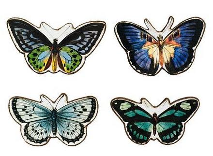 magnesy na lodówkę - motyle
