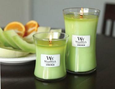 woodwick candle citrus melon
