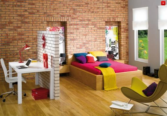 cegły w mieszkaniu