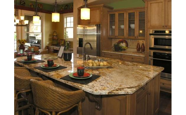 Rogala-kamień wyspa kuchenna