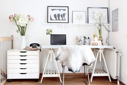biurko w stylu skandynawskim