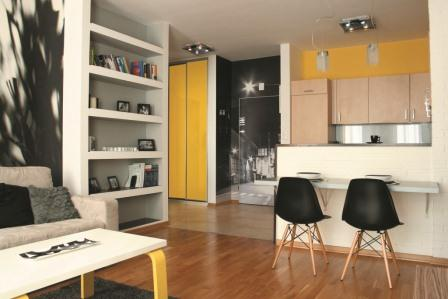 żółte elementy we wnętrzach