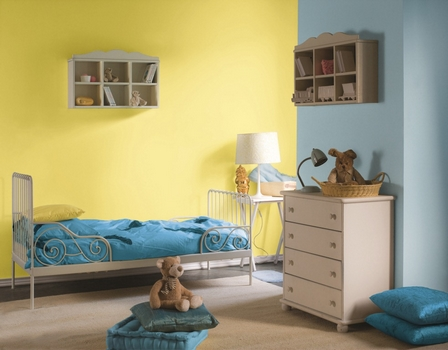 żółty pokój dziecięcy