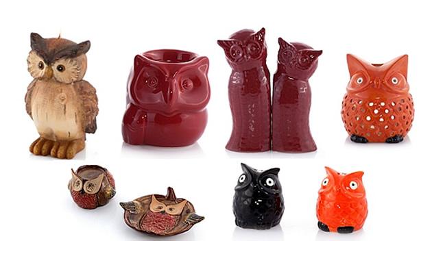 sowy figurki