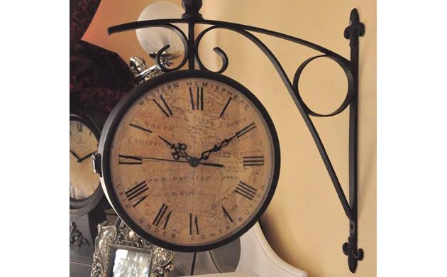 Zegar dworcowy ścienny - styl Baker Street