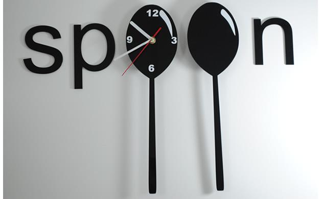 Zegar ścienny Spoon (łyżka)