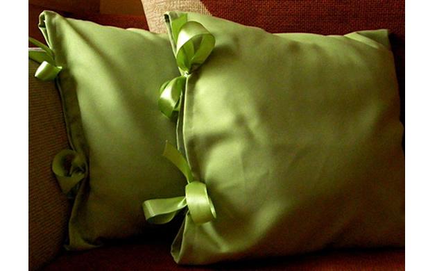 Zielone poduszki