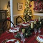 Jadalnia wystrój Święta Bożego Narodzenia