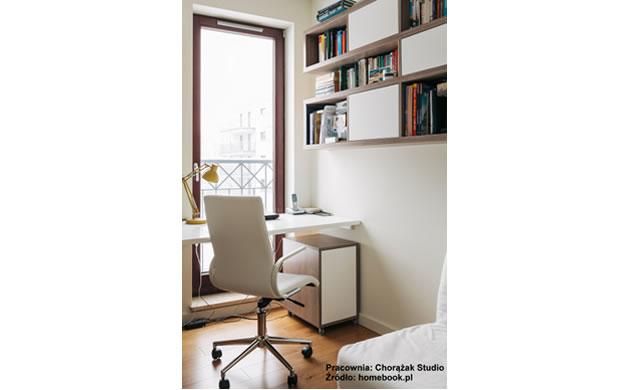 Wnętrza - biuro w salonie Chorążak Studio