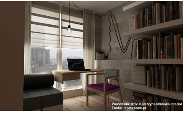 Wnętrza - biuro w salonie KIWI