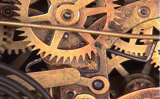 stary zegar mechanizm