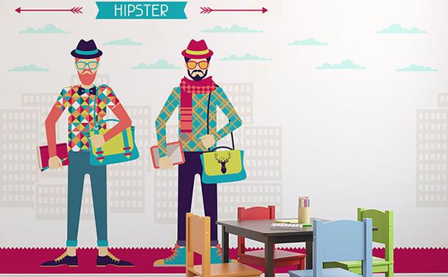 Fototapeta-hipster