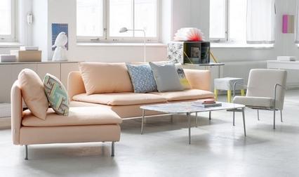 brzoskwiniowa sofa