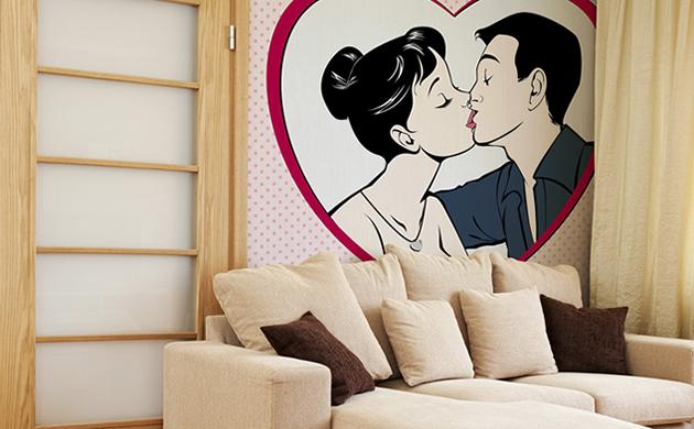 Naklejki na ścianę Redro Walentynki