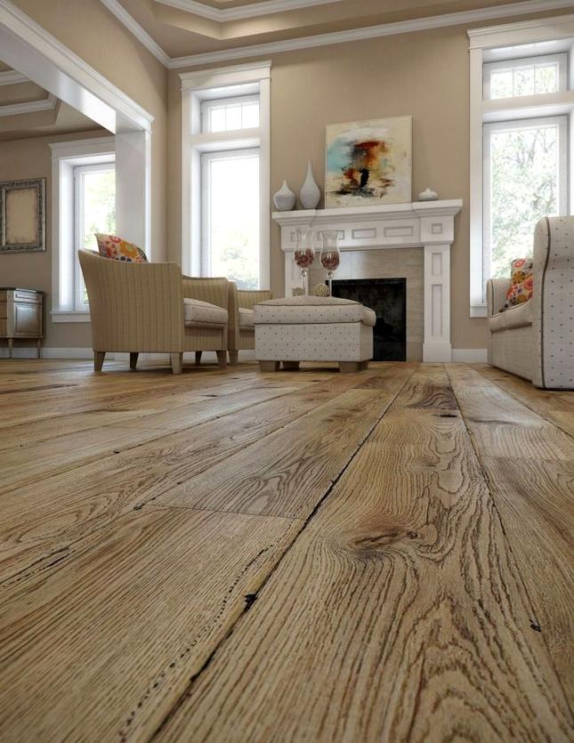 Podłoga ze szczotkowanego drewna
