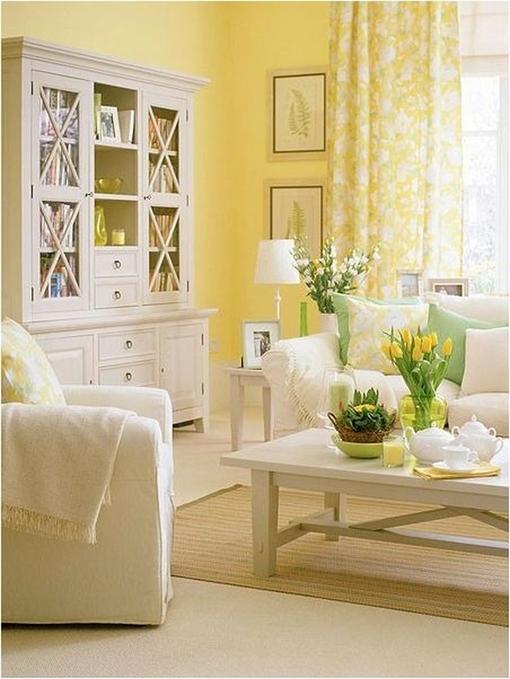 Żółty salon