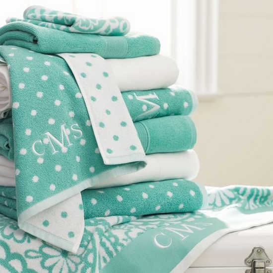 turkusowe ręczniki