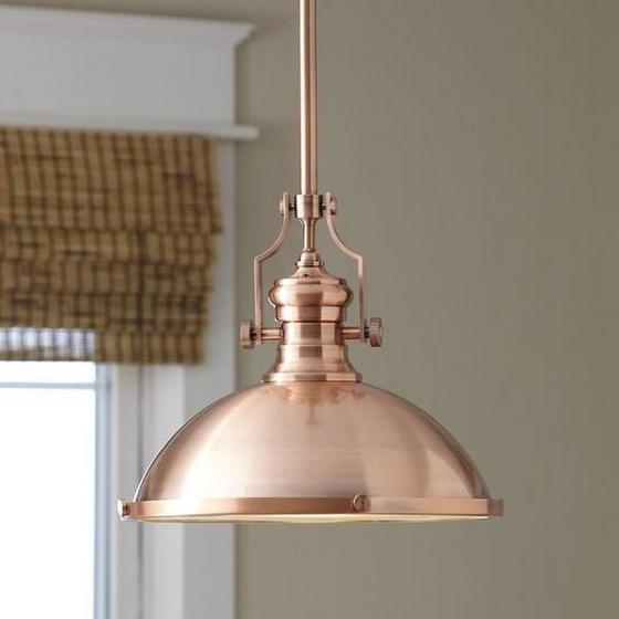 miedziana lampa