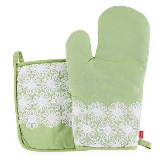 zielona rękawica kuchenna