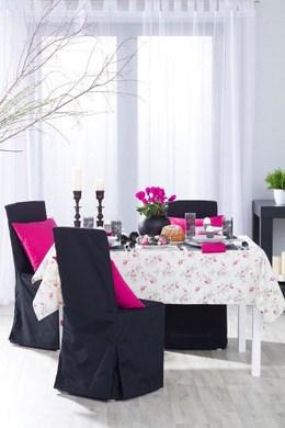 Dekoria, obrus prostokatny w fioletowe kwiaty, kolekcja Mirella