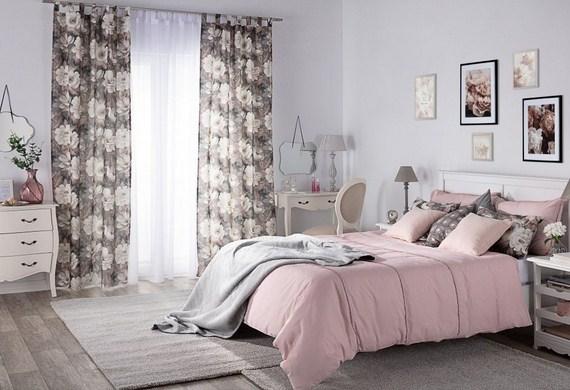Dekoria.pl, zasłona na szelkach i poszewki Kinga na poduszki, kolekcja tkanin Gardenia